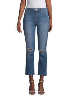 Current/Elliott High-Waist Straight Jeans