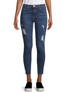 Current/Elliott High-Waisted Cropped Jeans
