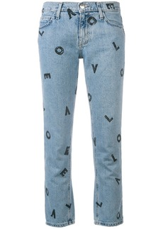 Current/Elliott Love Letters cropped jeans