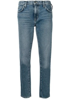 Current/Elliott mid rise cropped jeans