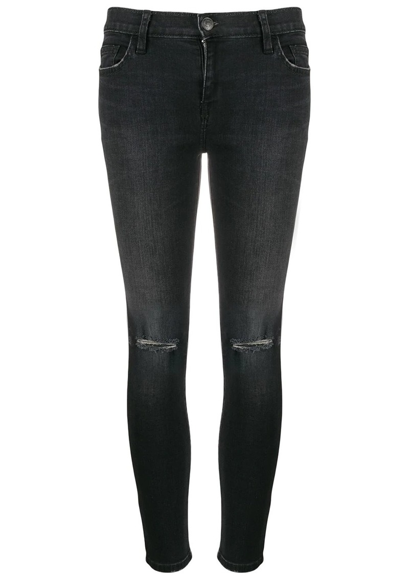 Current/Elliott mid-rise skinny distressed jeans