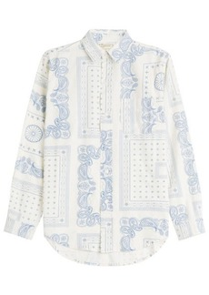 Current/Elliott Paisley Print Cotton Shirt