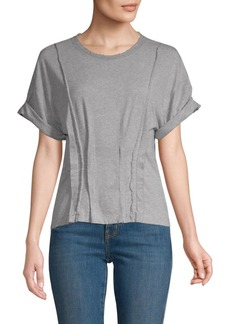 Current/Elliott Pin-Tuck Cotton T-Shirt