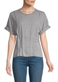 Current/Elliott Pin-Tuck Cotton T-Shirt