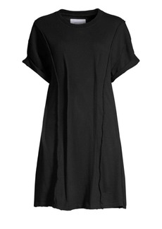Current/Elliott Pintucked Mini T-Shirt Dress