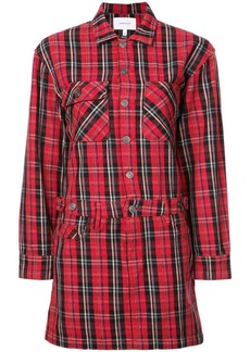 Current/Elliott plaid shirt dress