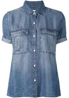 Current/Elliott polka dot denim shirt