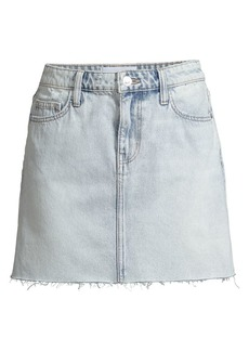 Current/Elliott Raw-Edge Denim Mini Skirt