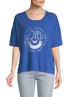Current/Elliott Roadie Printed Cotton Top
