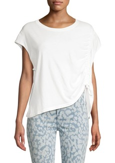 Current/Elliott Ruched Cotton Muscle Tee