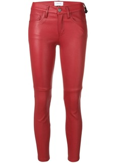 Current/Elliott skinny-fit leather trousers