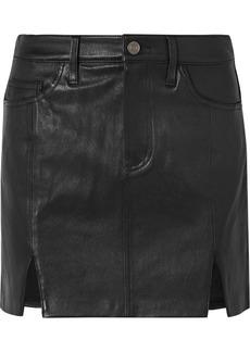 Current/Elliott Textured-leather Mini Skirt