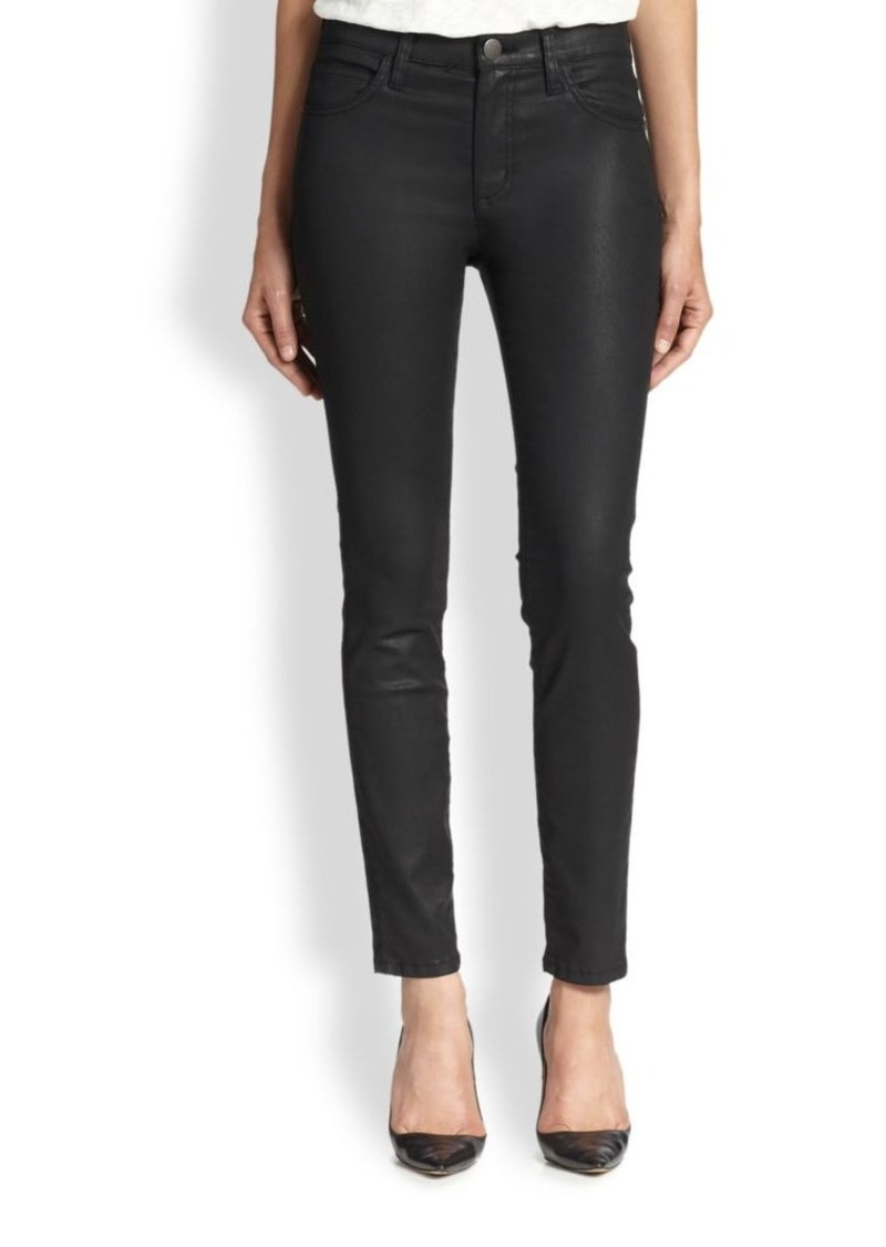 Current/Elliott The Ankle Coated Skinny Jeans