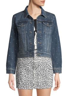 cf0970c7b Current Elliott The Baby Trucker Animal-Print Jean Jacket