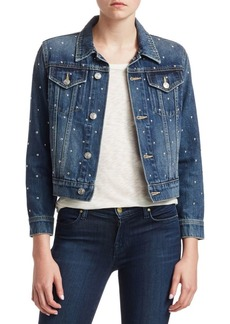 Current/Elliott The Baby Trucker Studded Jean Jacket