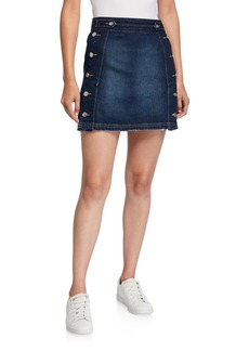 Current/Elliott The Ballast Denim Skirt w/ Buttons