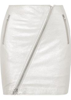Current/Elliott The Belen Metallic Textured-leather Mini Skirt
