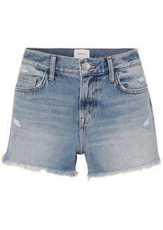Current/Elliott The Boyfriend Distressed Denim Shorts