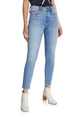 Current/Elliott The Braided High-Waist Stiletto Skinny Jeans
