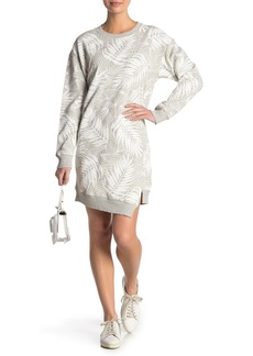 Current/Elliott The Breck Palm Print Sweatshirt Dress