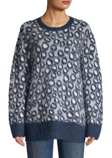 Current/Elliott The Cali Leopard Print Sweater