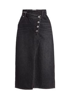 Current/Elliott The Cecilia Asymmetrical Denim Midi Skirt
