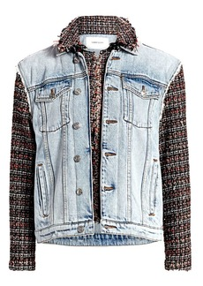 Current/Elliott The Charmer Tweed & Denim Jacket