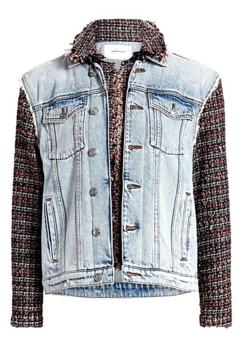 Current/Elliott The Charmer Tweed & Denim Jacket