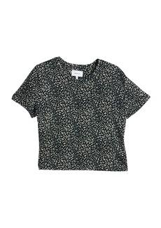 Current/Elliott The Clary Leopard Print Linen T-Shirt