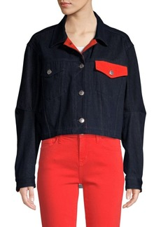 Current/Elliott The Collin Cropped Denim Jacket