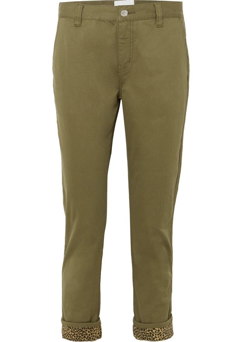 Current/Elliott The Confidant Cotton-blend Straight-leg Pants