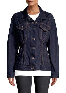 Current/Elliott The Corset Trucker Cotton Denim Jacket