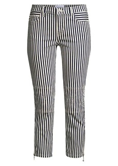 Current/Elliott The Cropped Lexton Stripe Jeans