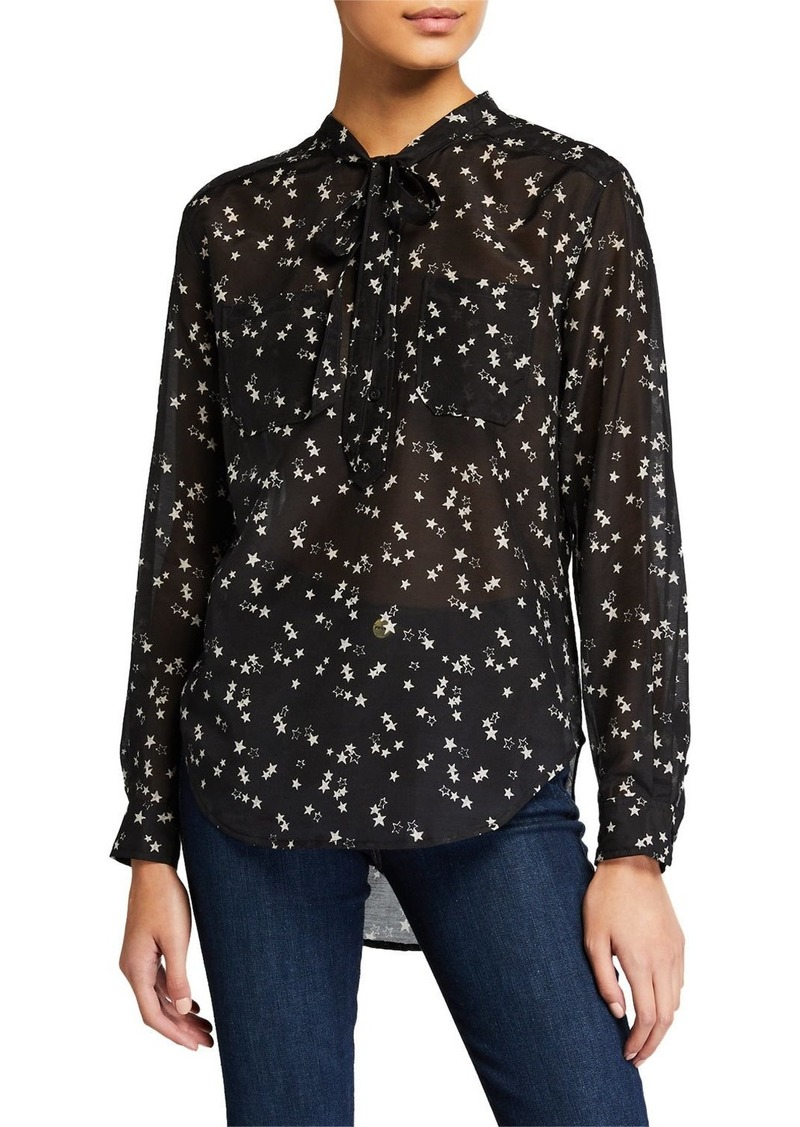 Current/Elliott The Darling Lili Stars Tie Blouse
