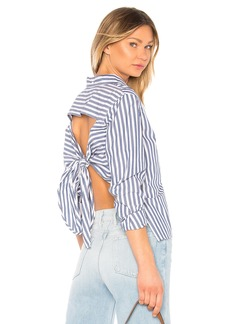 Current/Elliott The Des Stripe Shirt