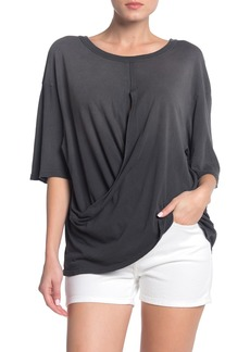 Current/Elliott The Draped Wrap Front T-Shirt