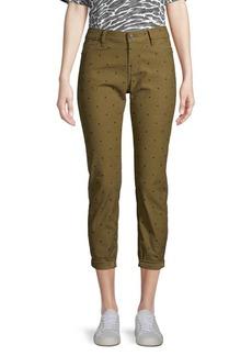 Current/Elliott The Easy Stiletto Polka Dot Skinny Crop Jeans