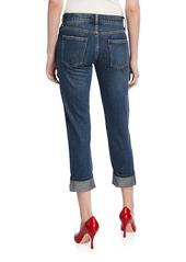 Current/Elliott The Fling Cropped Straight-Leg Boyfriend Jeans