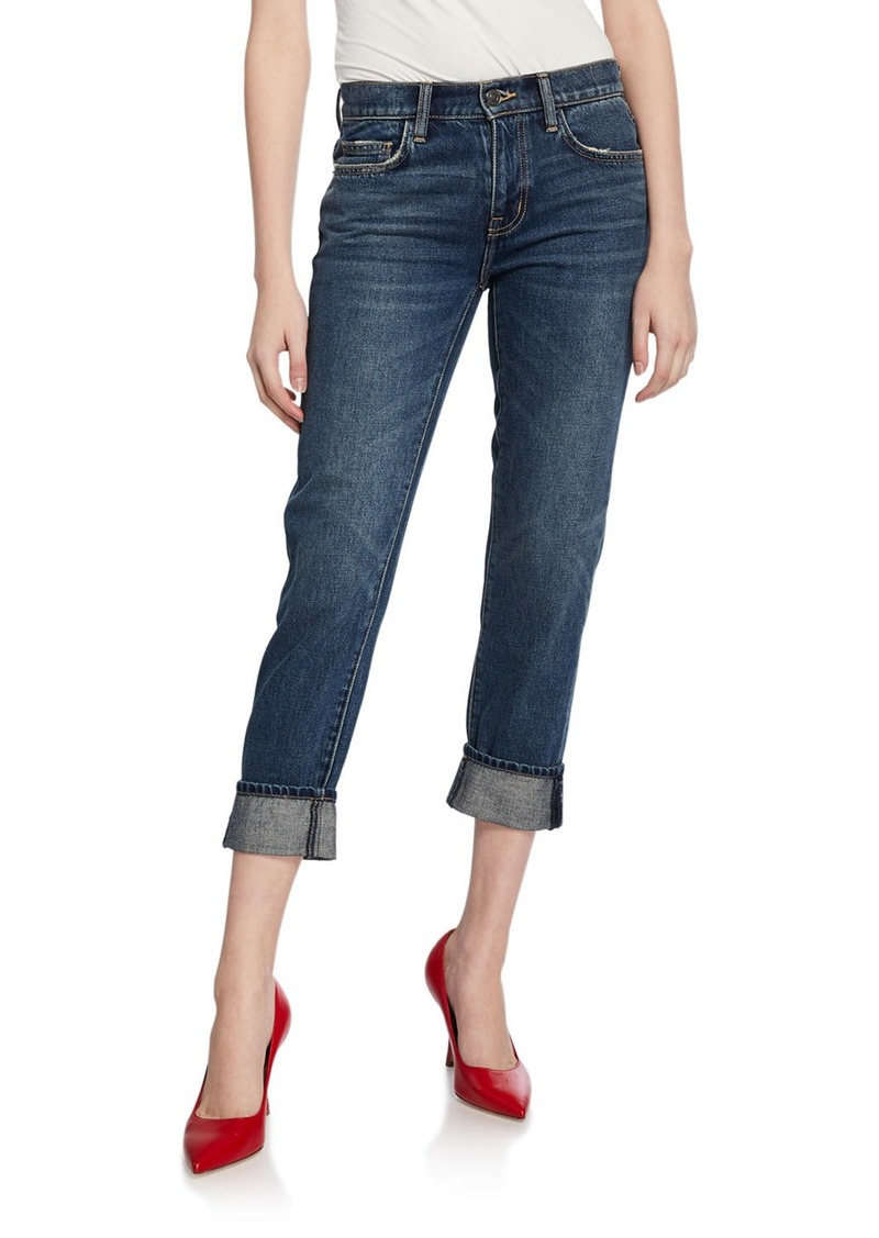 Current/Elliott The Fling Cropped Straight-Leg Boyfriend Jeans