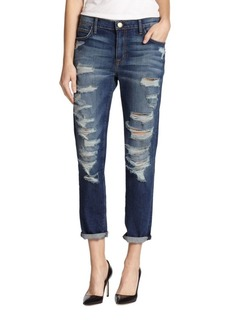 Current/Elliott The Fling Shredded Boyfriend Jeans