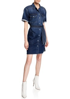 Current/Elliott The Flint Denim Shirt Dress