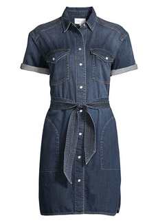 Current/Elliott The Flint Tie-Belt Denim Shirtdress