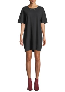 Current/Elliott The Glitter Rock Short-Sleeve Tee Dress