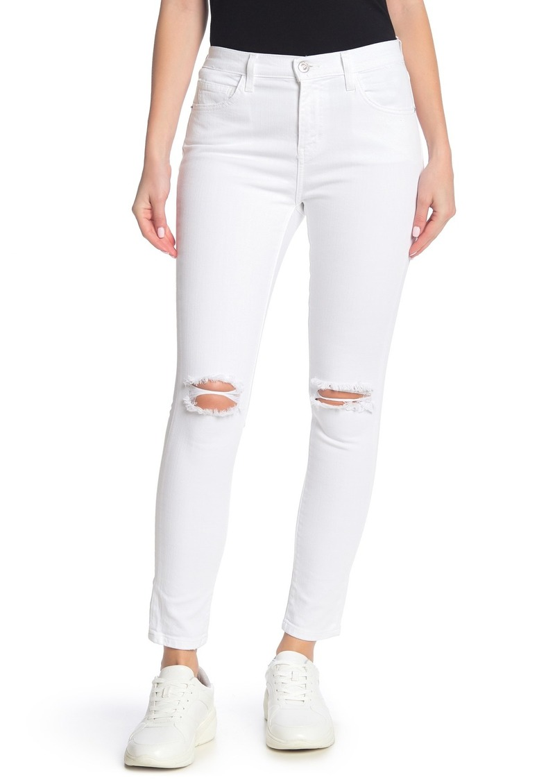Current/Elliott The High Waist Distressed Stiletto Jeans