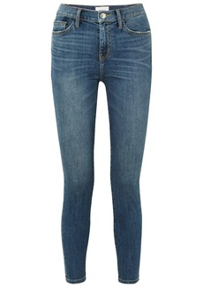 Current/Elliott The High Waist Stiletto Cropped Skinny Jeans