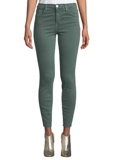Current/Elliott The High-Waist Stiletto Skinny Jeans  Green
