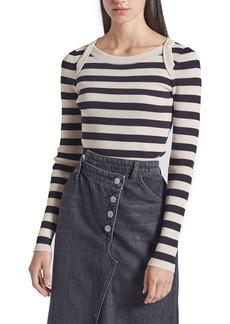 Current/Elliott The It Girl Stripe Long Sleeve T-Shirt