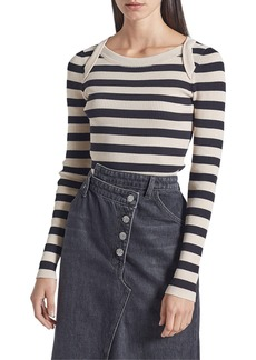 Current/Elliott The It Girl Striped Cotton Top