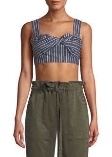 Current/Elliott The Jac Striped Twist-Front Bralette