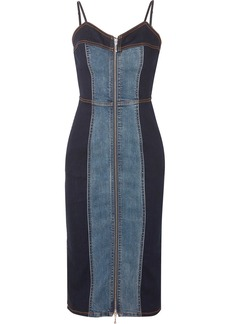 Current/Elliott The Jacqueline Two-tone Stretch-denim Dress